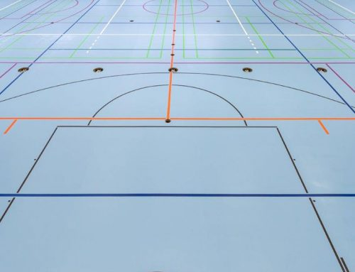 Fußbodenversiegelung Sporthalle